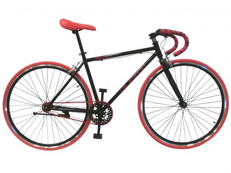 Bicicleta negra y roja