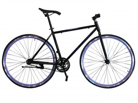 Bicicleta Fixie morada