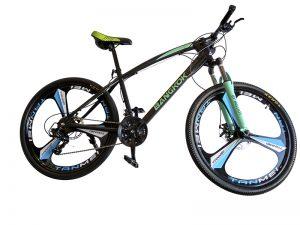 bici de montaña verde