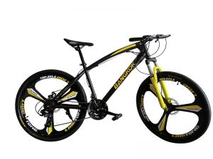 bicicleta montaña amarilla