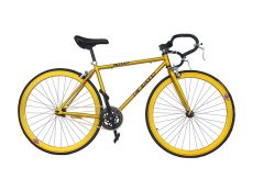 Bicicleta fixie amarilla