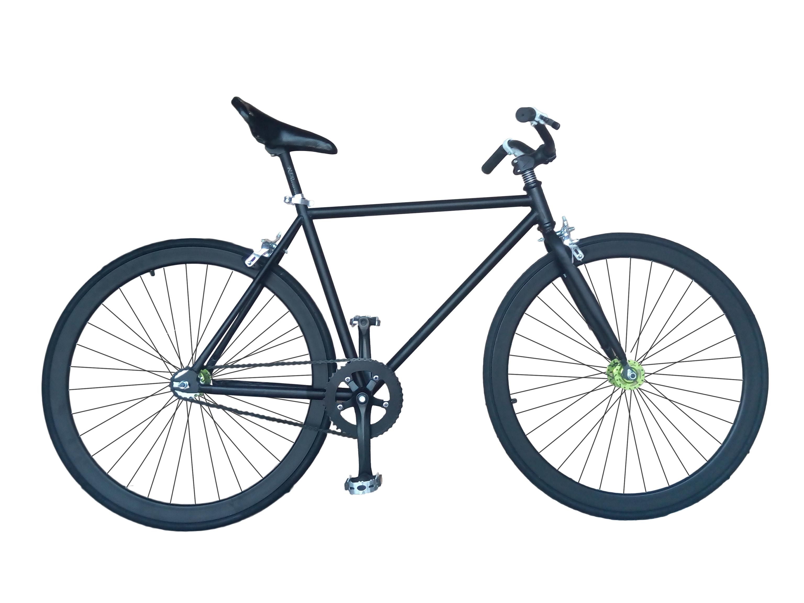 Fixie Tribeca 23 | Bicicleta fixie negra de doble piñón - Helliot Bikes