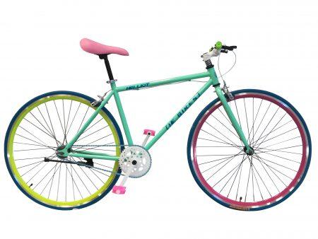 bicicleta fixie verde