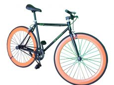 Bicicleta fixie naranja