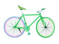fixie verde y rosa