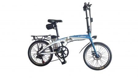 bicicleta electrica blanca
