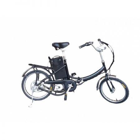 Bicicleta de paseo eléctrica frontal