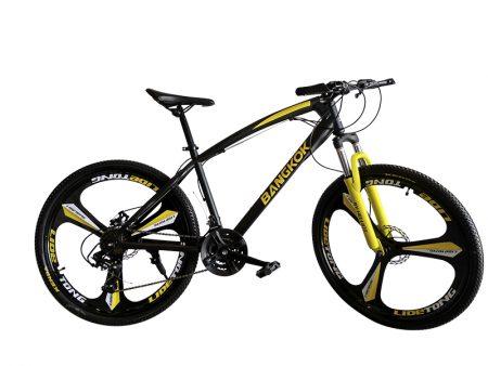 bici de montaña amarilla
