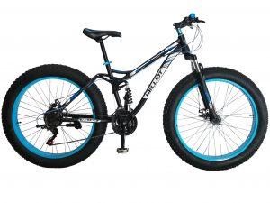 fat bike azul