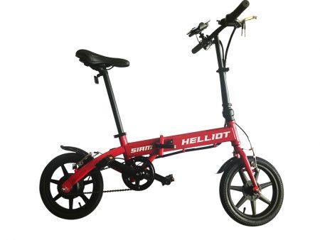 bici eléctrica roja