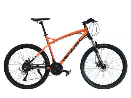 bicicleta de montaña naranja