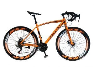 Bicicleta de carretera naranja