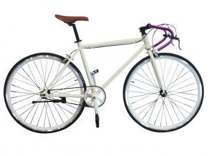 bicicleta fixie de aluminio