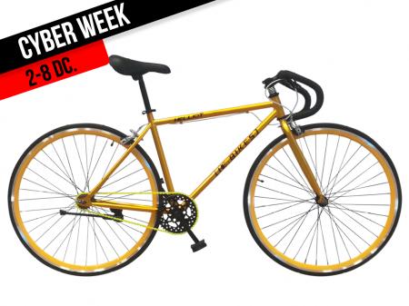 bicicleta dorada primavera