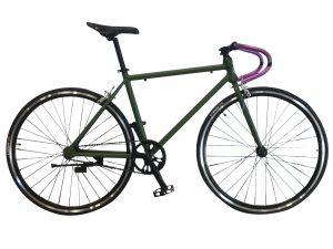 bicicleta de aluminio verde