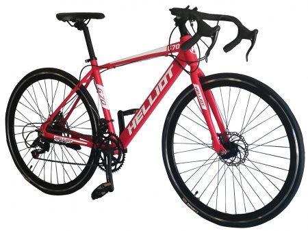 bicicleta de carretera roja frontal