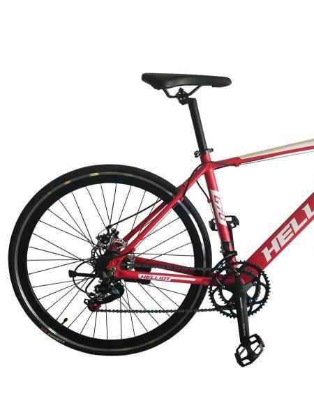 bicicleta de carretera roja detalle