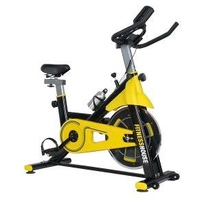 bicicleta indoor amarilla