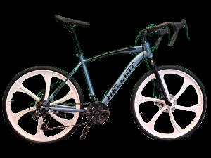 bicicleta de gravel azul